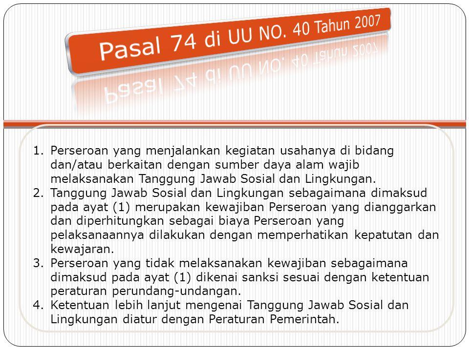 Pasal 74 di UU NO. 40 Tahun 2007
