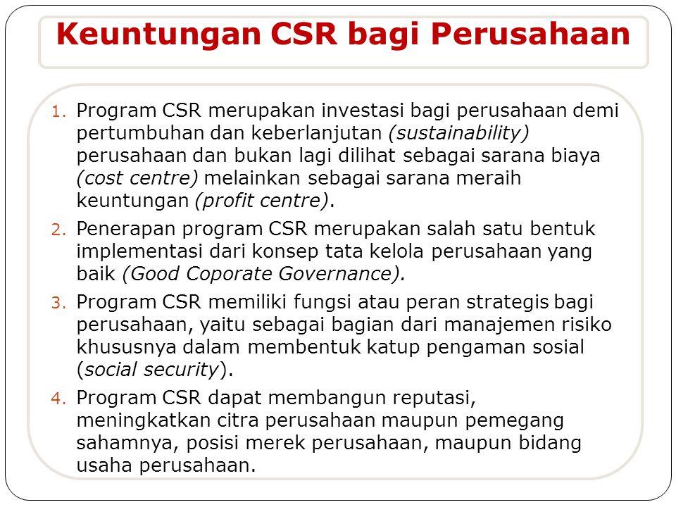 Keuntungan CSR bagi Perusahaan