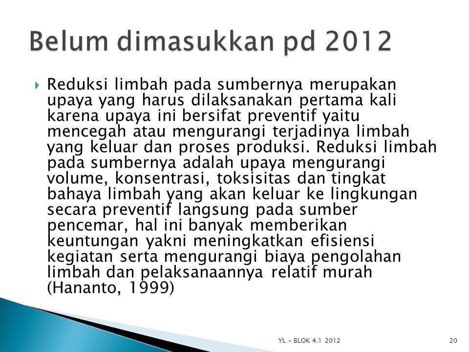 Belum dimasukkan pd 2012