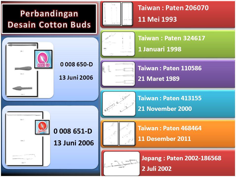 Perbandingan Desain Cotton Buds