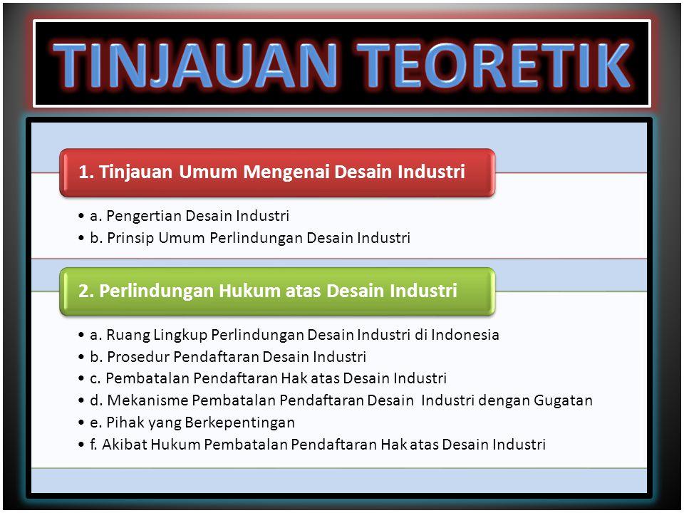 TINJAUAN TEORETIK a. Pengertian Desain Industri