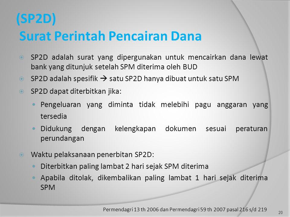 (SP2D) Surat Perintah Pencairan Dana