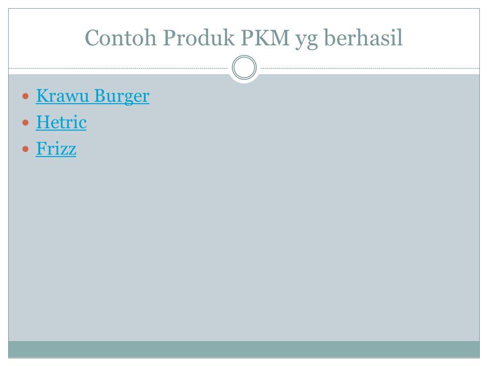 Contoh Produk PKM yg berhasil