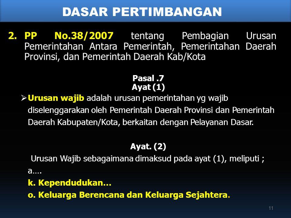 Urusan Wajib sebagaimana dimaksud pada ayat (1), meliputi ;