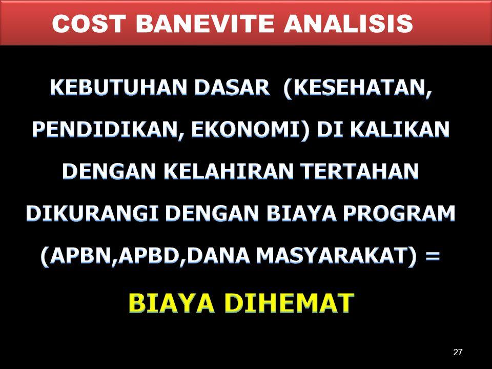 COST BANEVITE ANALISIS