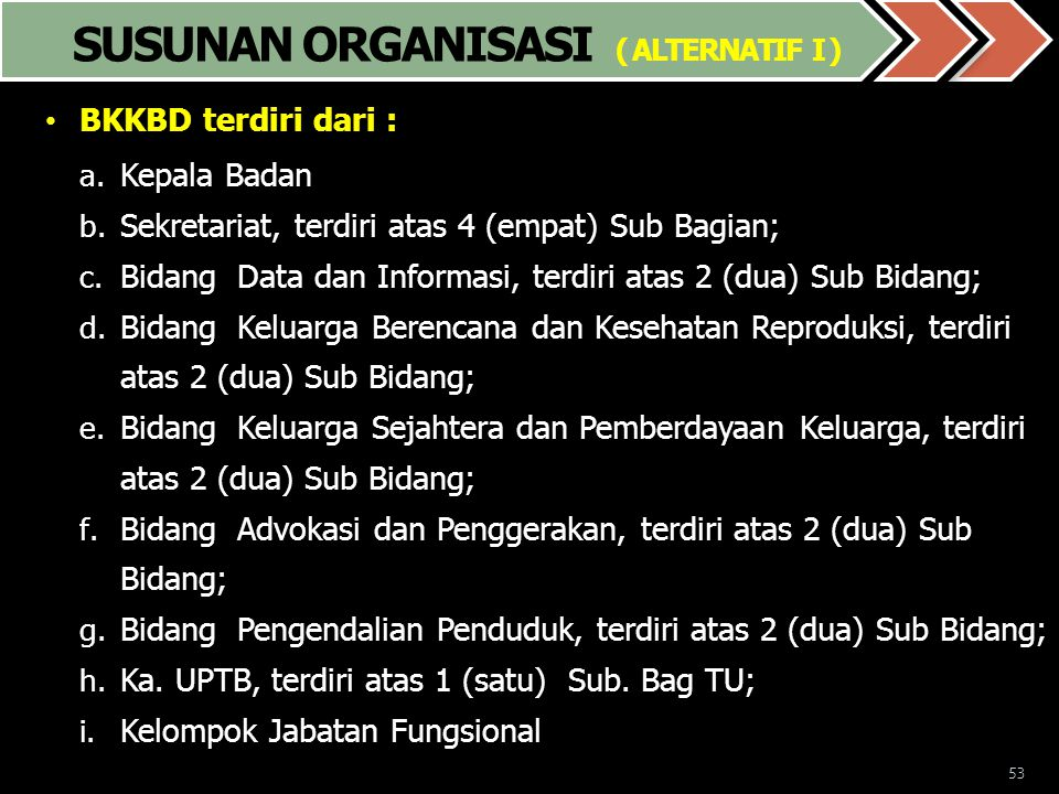 SUSUNAN ORGANISASI ( ALTERNATIF I )