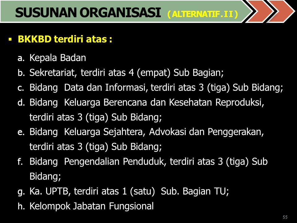 SUSUNAN ORGANISASI ( ALTERNATIF . I I )