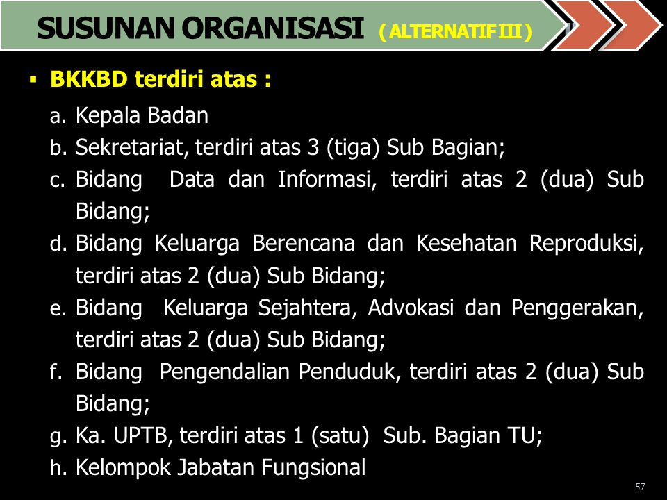 Susunan Organisasi ( Alternatif. III )
