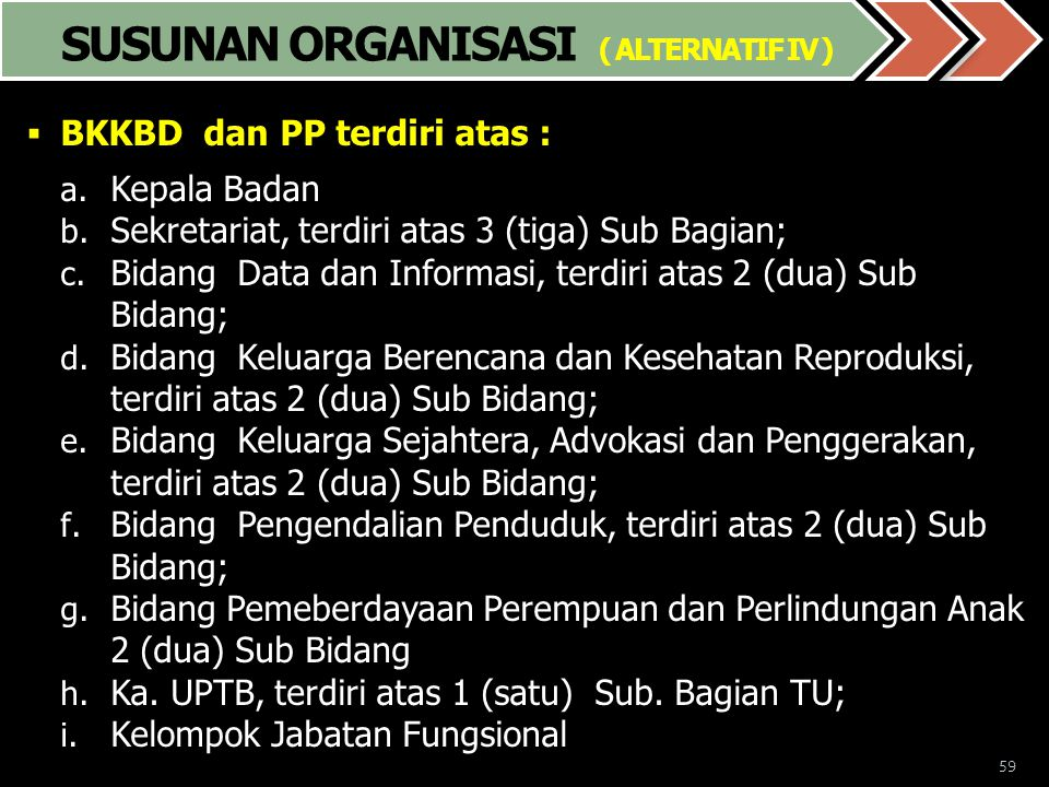 SUSUNAN ORGANISASI ( ALTERNATIF IV )