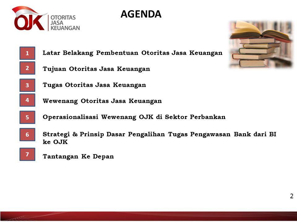 AGENDA 2 1 Latar Belakang Pembentuan Otoritas Jasa Keuangan 2