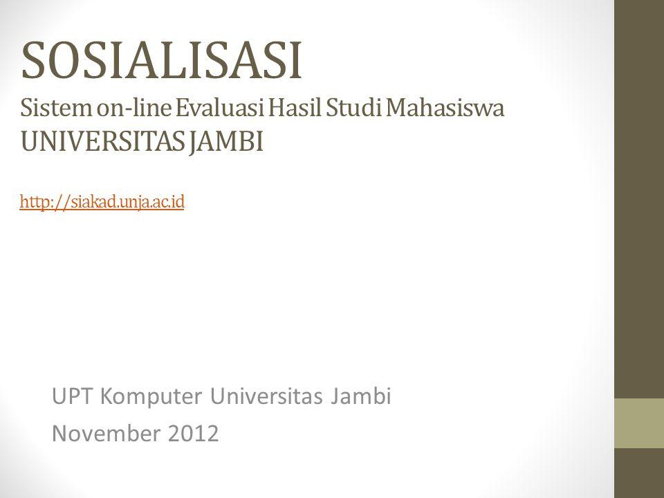 UPT Komputer Universitas Jambi November 2012