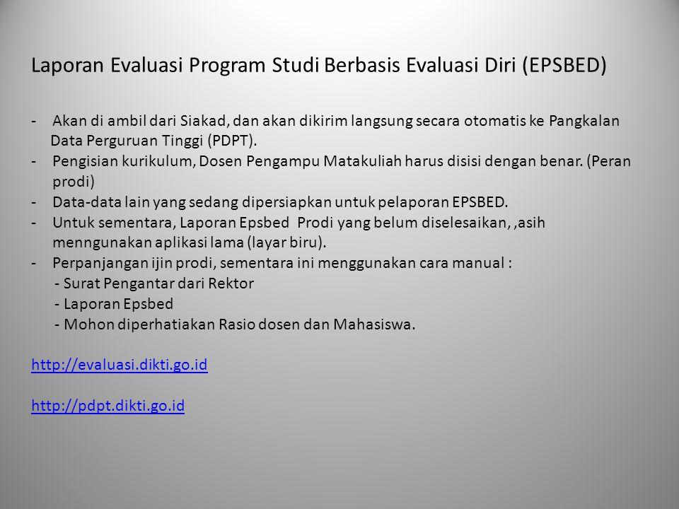 Laporan Evaluasi Program Studi Berbasis Evaluasi Diri (EPSBED)