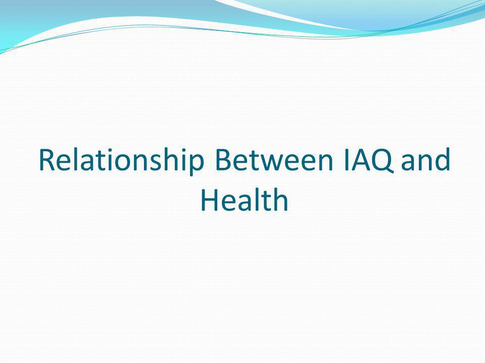 Relationship Between IAQ and Health