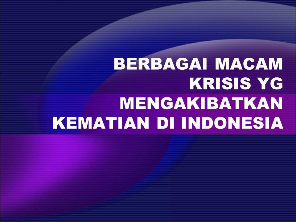 BERBAGAI MACAM KRISIS YG MENGAKIBATKAN KEMATIAN DI INDONESIA