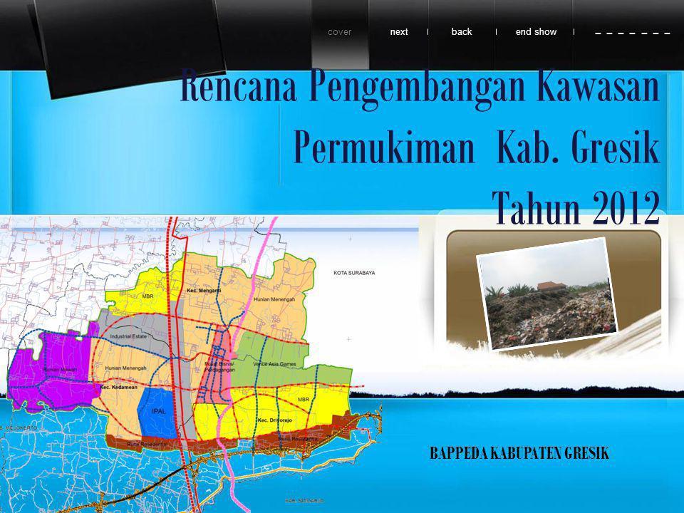 Rencana Pengembangan Kawasan Permukiman Kab. Gresik Tahun 2012