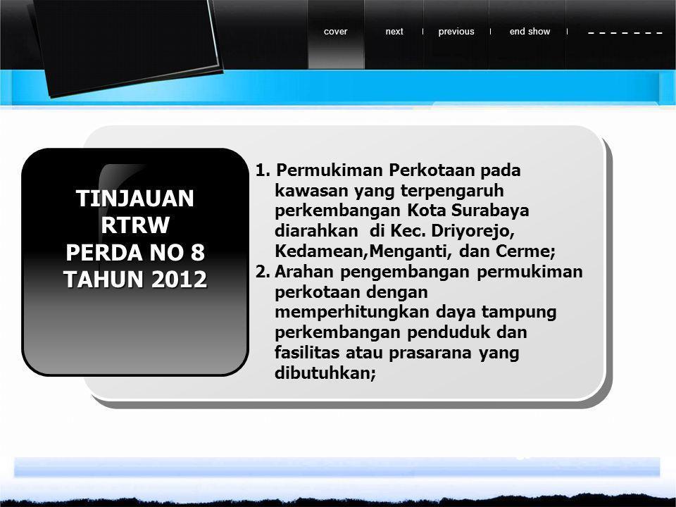 TINJAUAN RTRW PERDA NO 8 TAHUN 2012