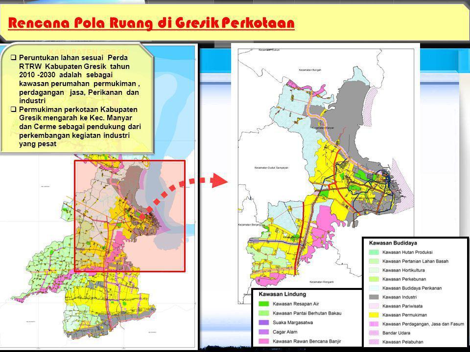 Rencana Pola Ruang di Gresik Perkotaan