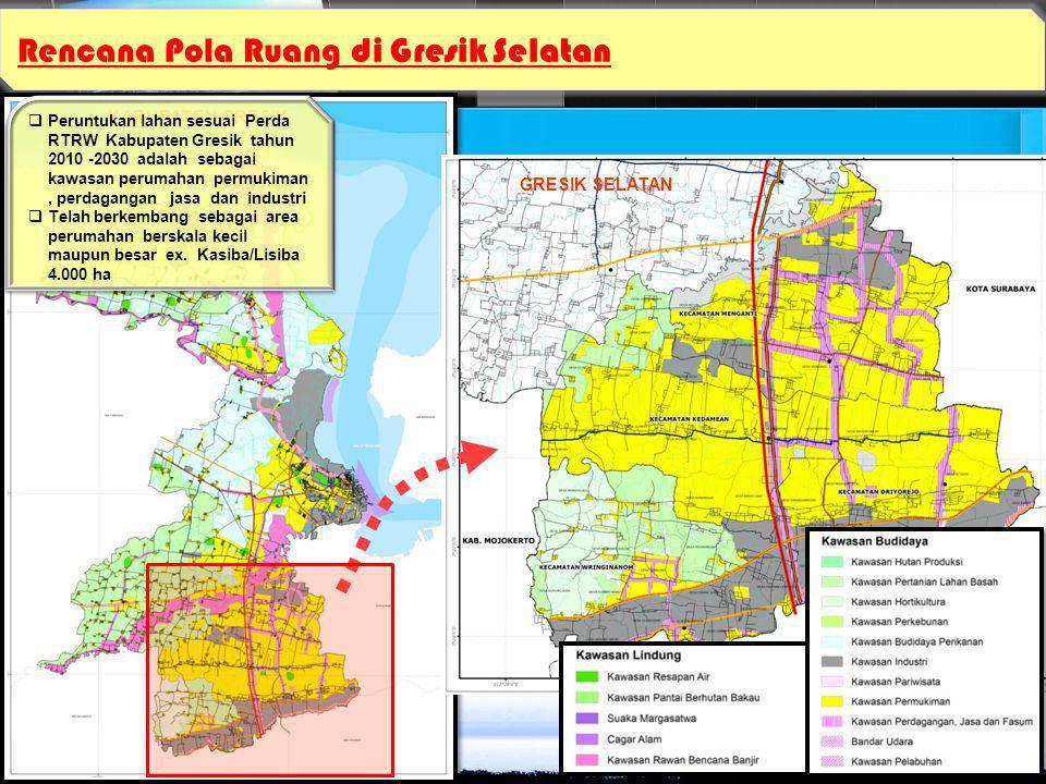 Rencana Pola Ruang di Gresik Selatan