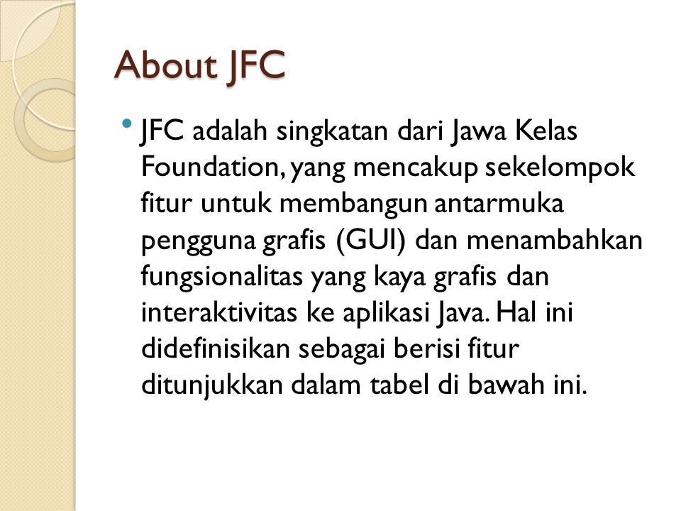 About JFC