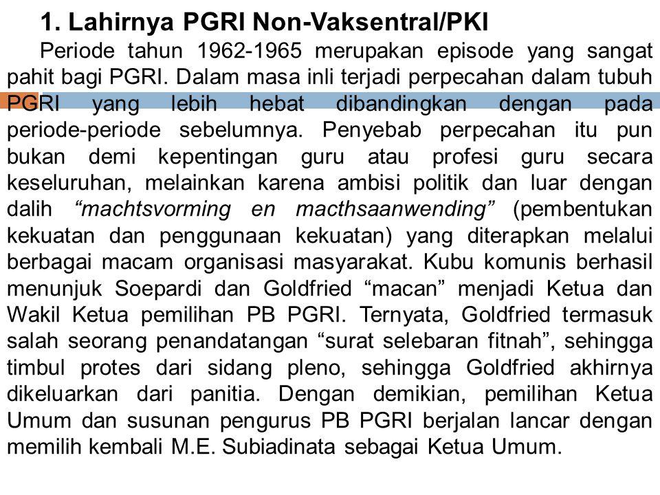 1. Lahirnya PGRI Non‑Vaksentral/PKI