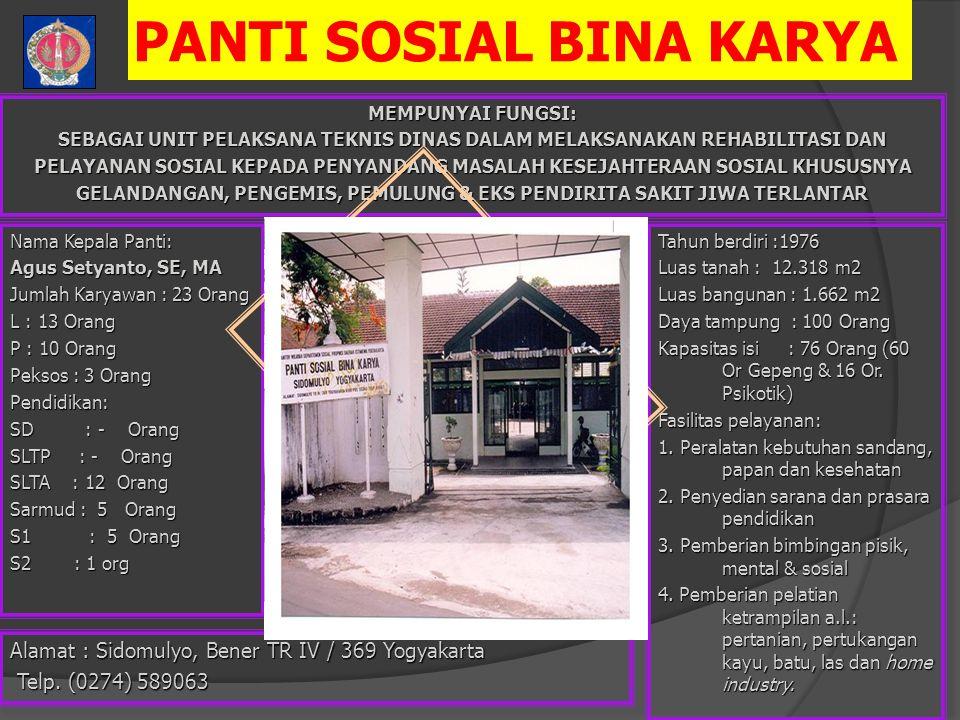 PANTI SOSIAL BINA KARYA