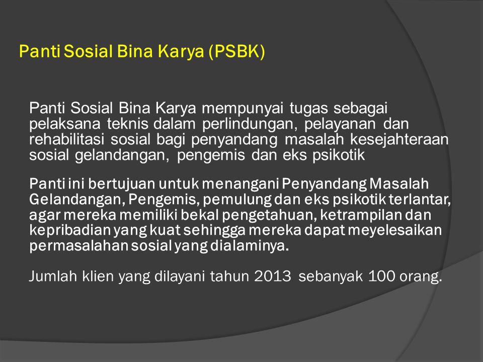 Panti Sosial Bina Karya (PSBK)
