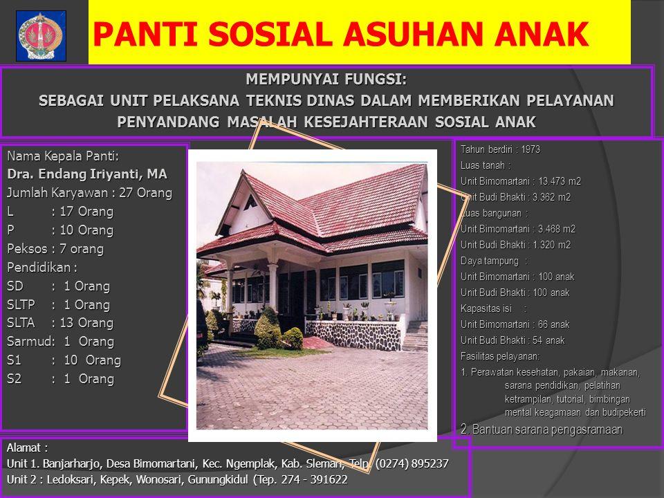 PANTI SOSIAL ASUHAN ANAK