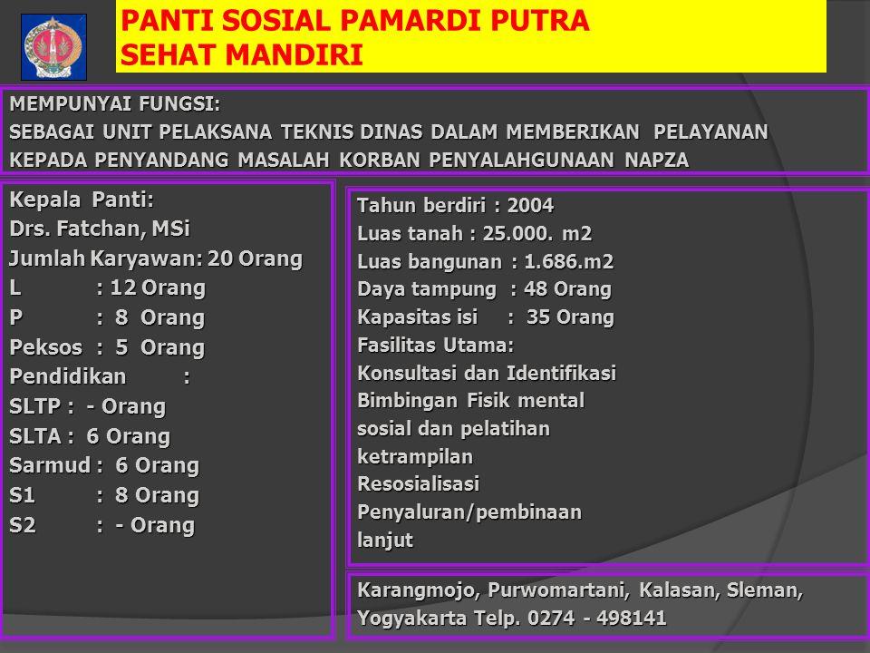 PANTI SOSIAL PAMARDI PUTRA SEHAT MANDIRI