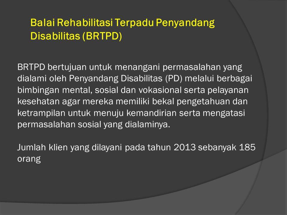 Balai Rehabilitasi Terpadu Penyandang Disabilitas (BRTPD)