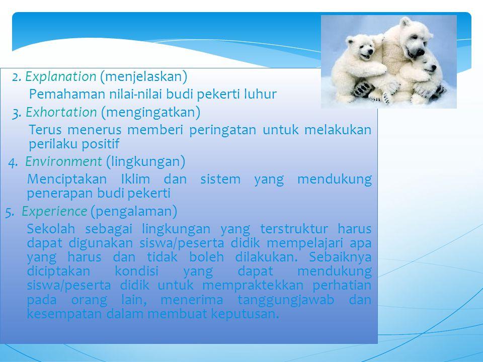 2. Explanation (menjelaskan)