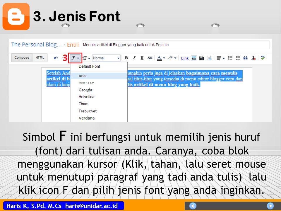 3. Jenis Font