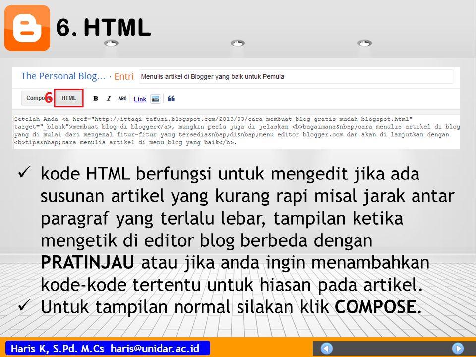 6. HTML