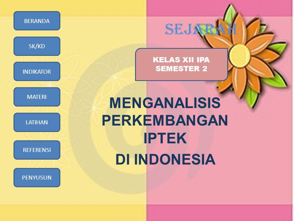 MENGANALISIS PERKEMBANGAN IPTEK DI INDONESIA