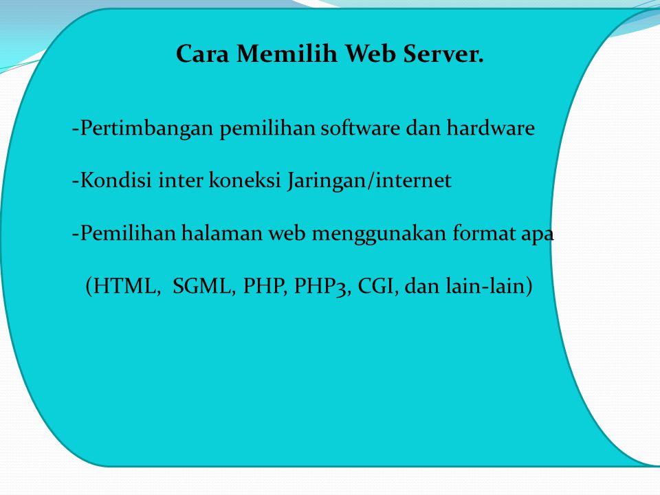 Cara Memilih Web Server.