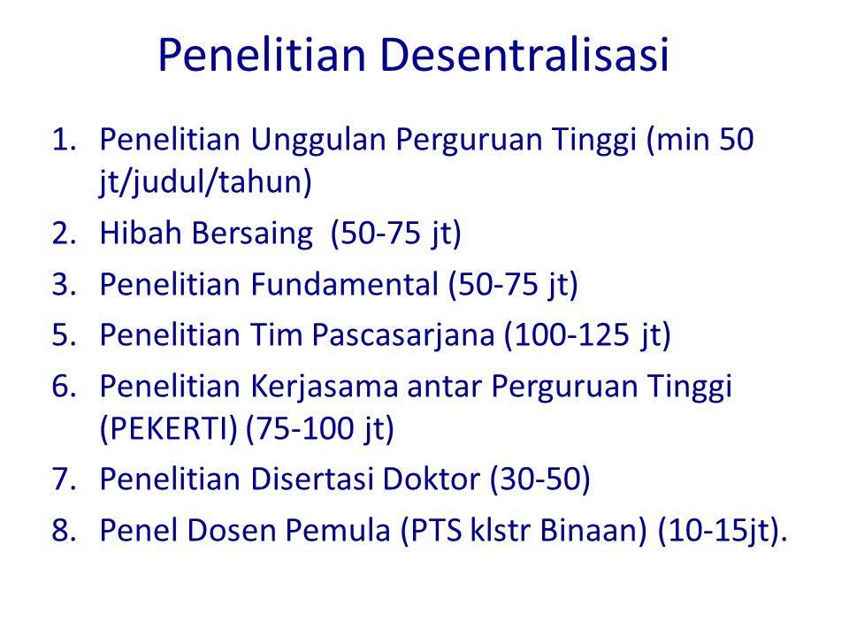 Penelitian Desentralisasi