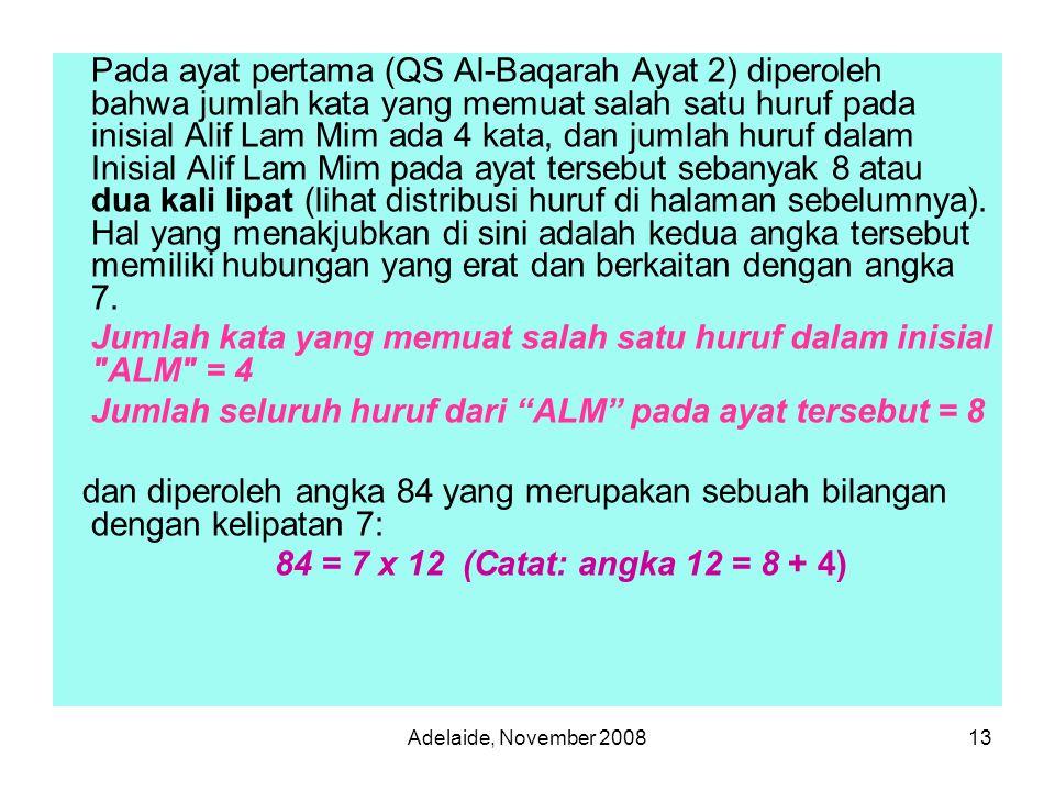 Jumlah kata yang memuat salah satu huruf dalam inisial ALM = 4