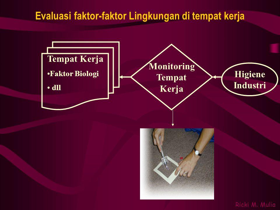 Evaluasi faktor-faktor Lingkungan di tempat kerja
