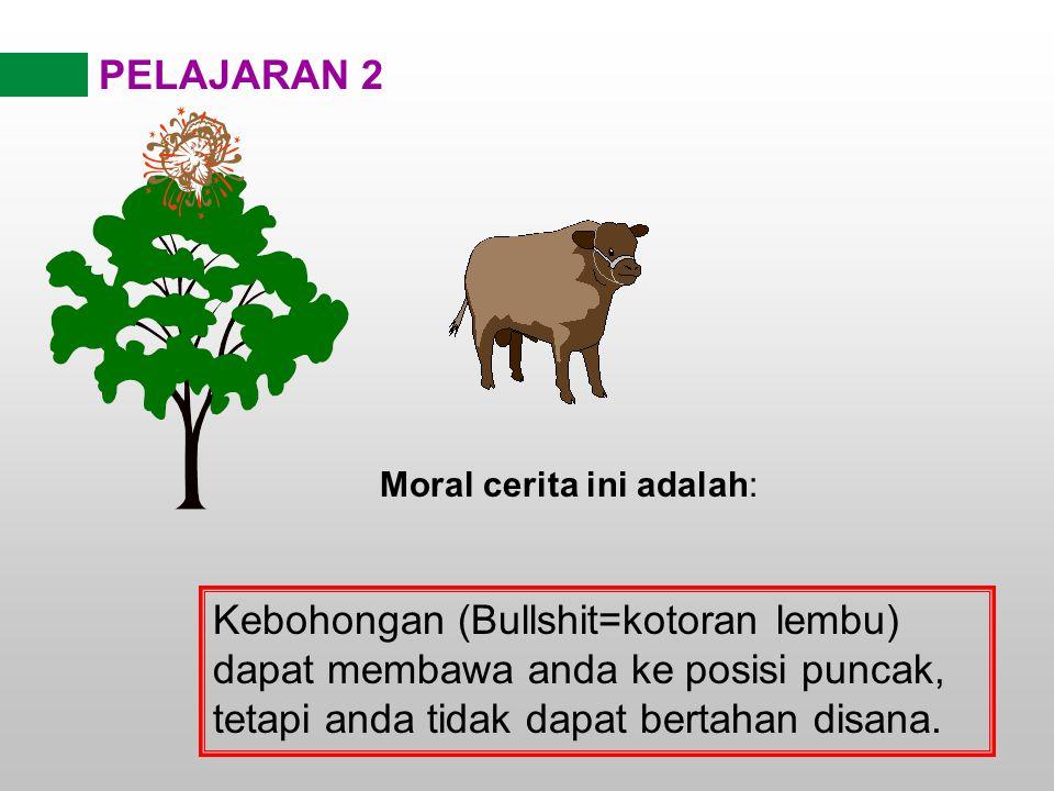PELAJARAN 2 Moral cerita ini adalah: