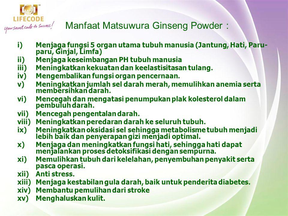 Manfaat Matsuwura Ginseng Powder :