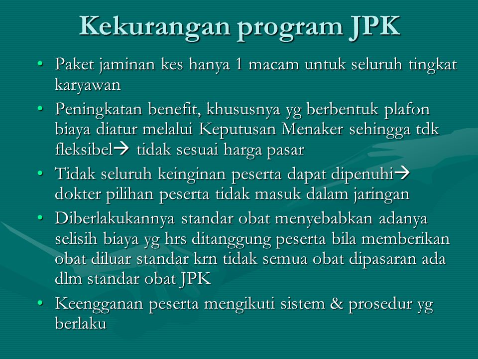 Kekurangan program JPK