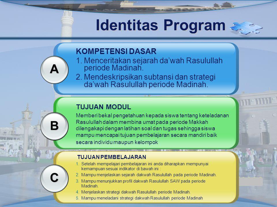 Identitas Program A B C KOMPETENSI DASAR