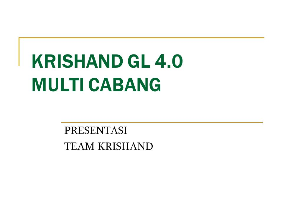 KRISHAND GL 4.0 MULTI CABANG