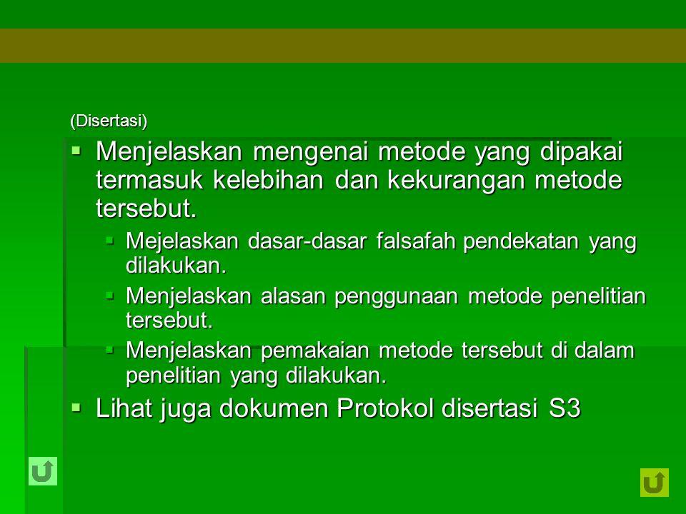 Lihat juga dokumen Protokol disertasi S3