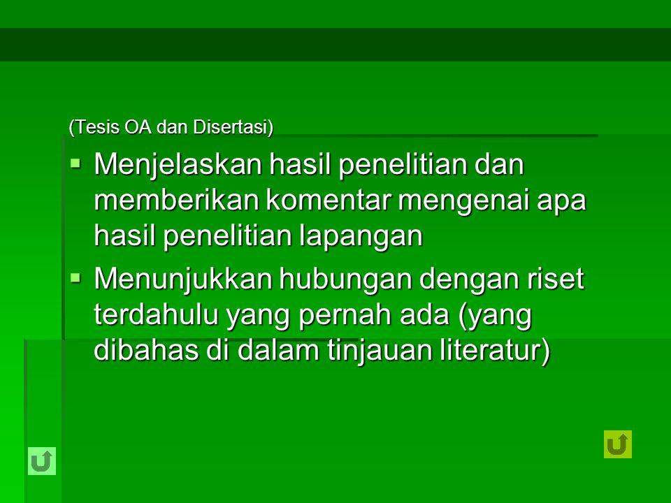(Tesis OA dan Disertasi)