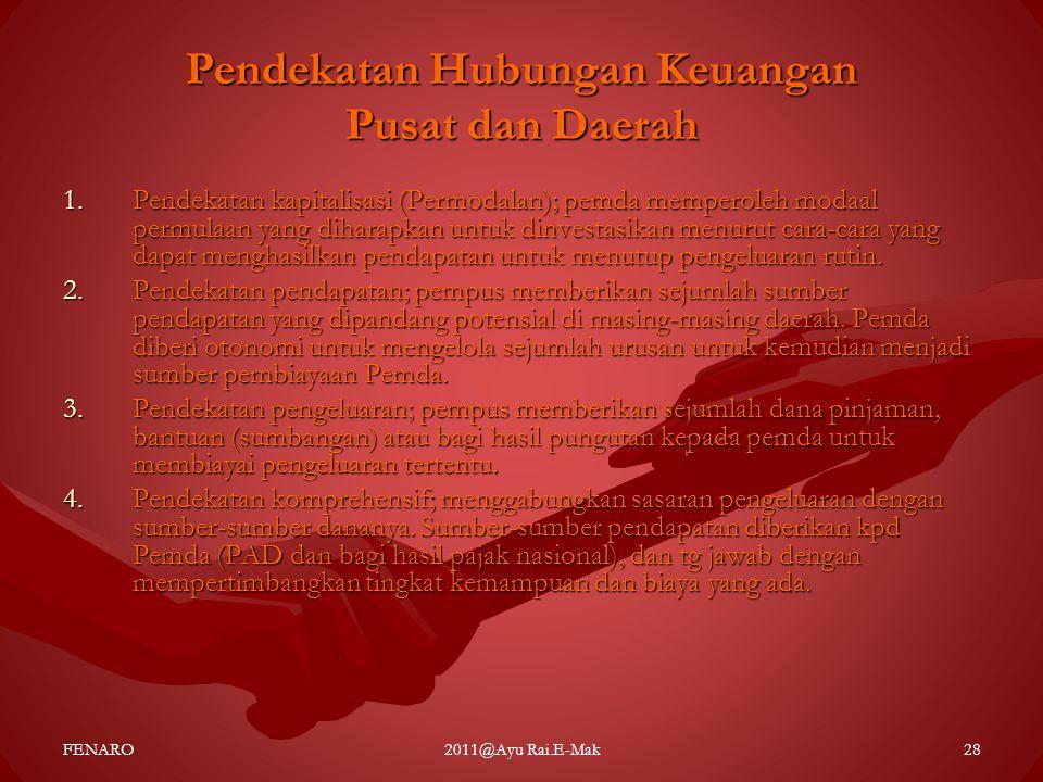 Pendekatan Hubungan Keuangan Pusat dan Daerah