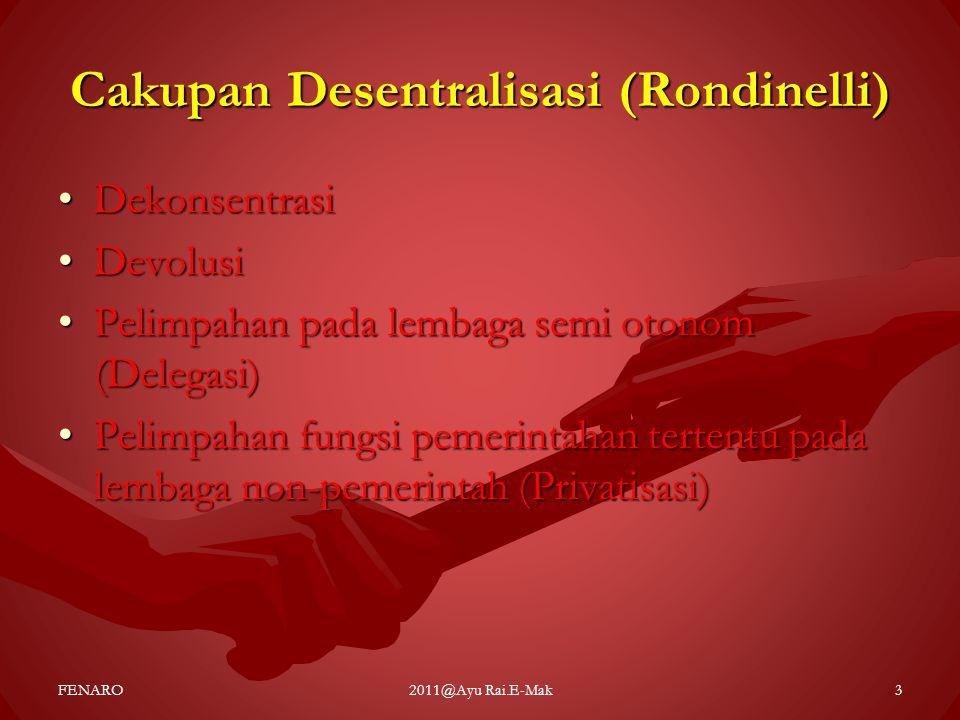 Cakupan Desentralisasi (Rondinelli)