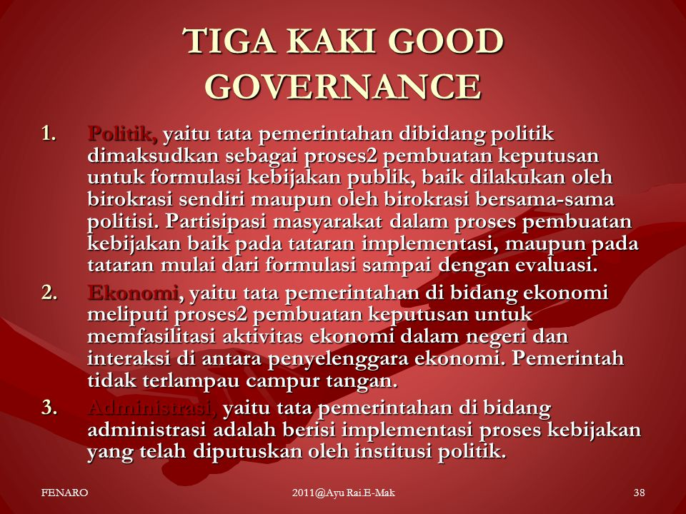 TIGA KAKI GOOD GOVERNANCE
