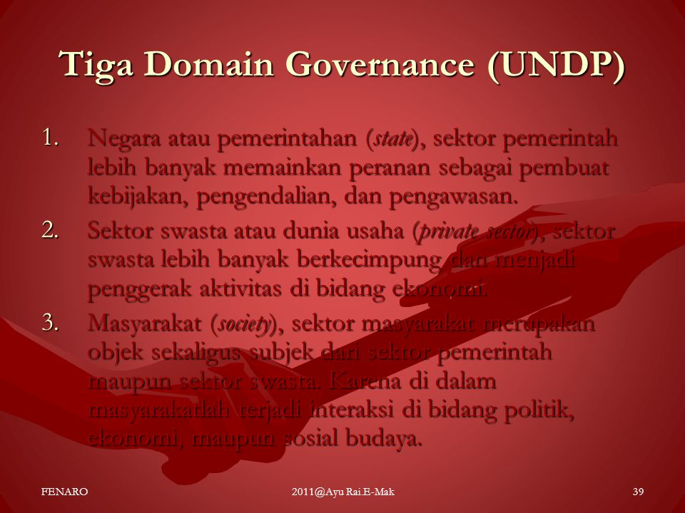 Tiga Domain Governance (UNDP)