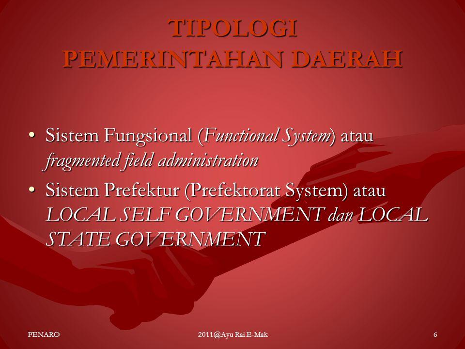 TIPOLOGI PEMERINTAHAN DAERAH