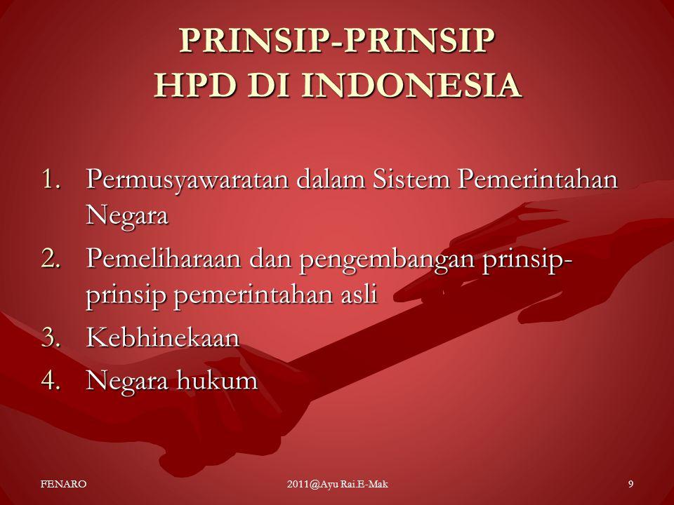 PRINSIP-PRINSIP HPD DI INDONESIA